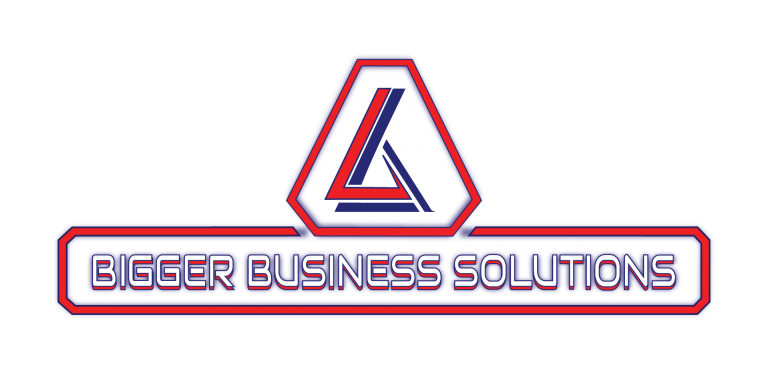 Bigger Business Solutions Logo Red & Navy
