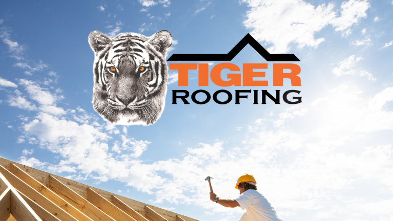 Tiger Roofing logo on featured image